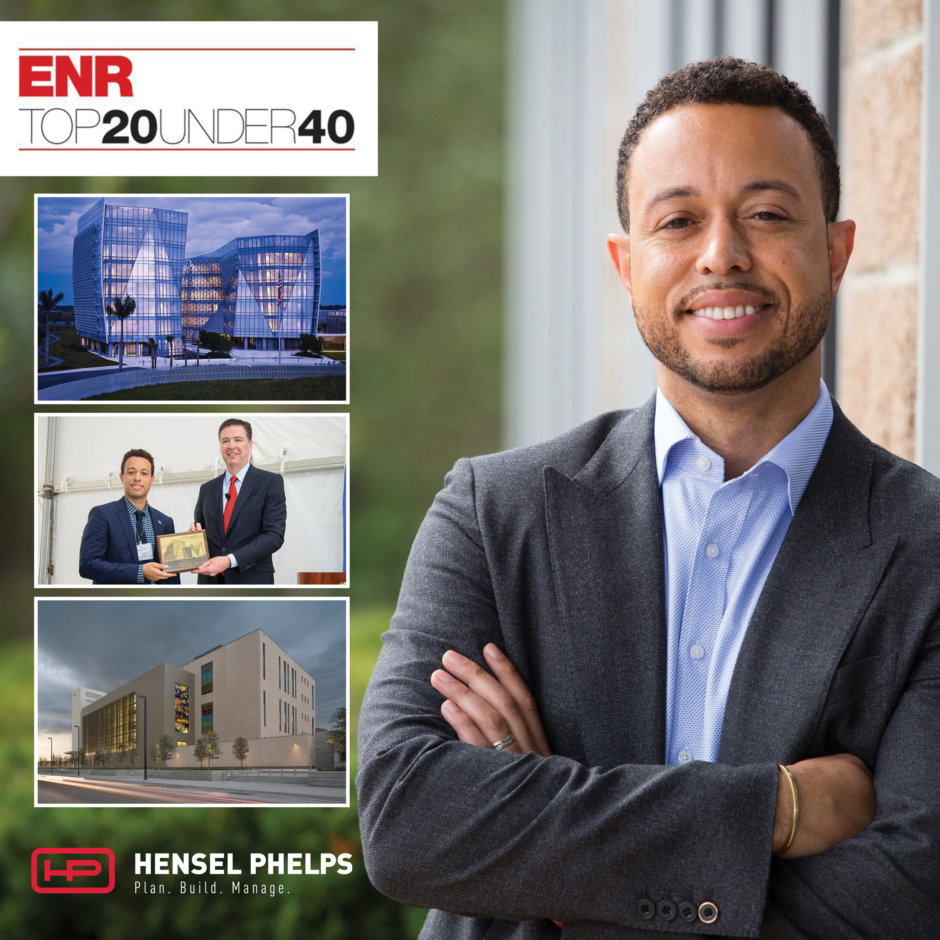 ENR National Selects Top 20 Under 40 Standouts! - Hensel Phelps