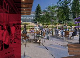 Exterior Lobby Concept at the UW Interdisciplinary Engineering Building